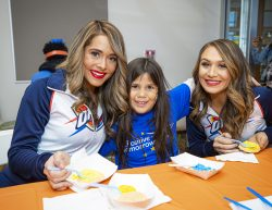 Positive Tomorrows student with Thunder Girls