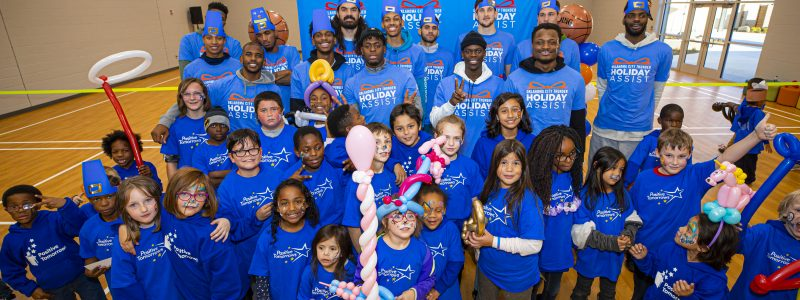 Positive Tomorrows students and OKC Thunder