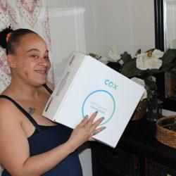 Positive Tomorrows' parent shows new Cox Communications internet connection box